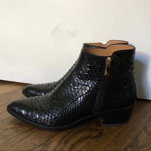 Fratelli Rossetti Croc Ankle Boots